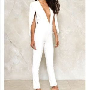 Nasty Gal White Jumpsui